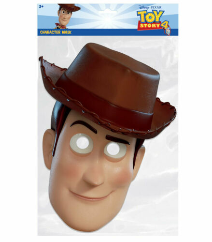 Woody from Toy Story 4 Official Single 2D Card Party Face Mask