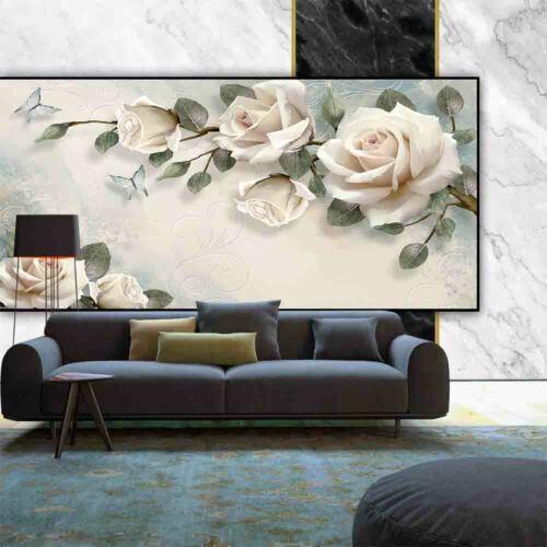 Nappes papiers peints photos tapisseries peintures murales Marbre Effet 3d Belle Fleur 11727