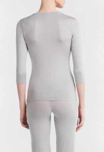 Sleeve Bi Perla Light ¾ stretch Soul Silk Grey La New Top Taglia 8 Nwt 5Xqw8p5