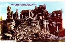 CP 80 SOMME - Albert - Ruines de l'Eglise - Vue de face