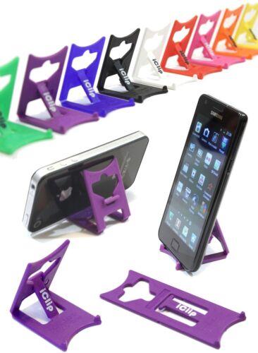 IPhone 3g 3gs 4g 4s 5 6 titulaire violet Pliant Voyage Iclip Support de bureau repos
