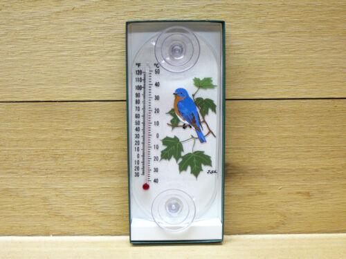 Aspects Original Window Mount Thermometer Bluebird / Maple #203 indoor outdoor