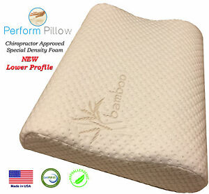 Low Profile Memory Foam Neck Pillow Ebay