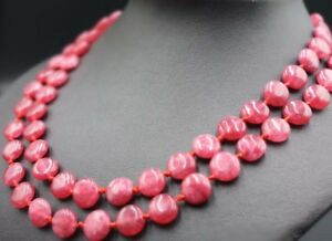 New 14mm Natural 12 Color Faceted Jade Gems Coin Beads Necklace 17/'/'