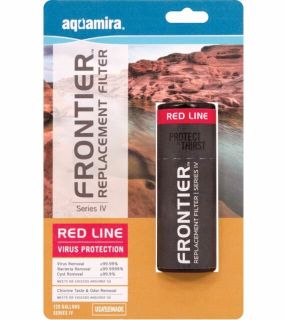 Aquamira Frontier Max Replacement Water Filter - Series IV Red Line