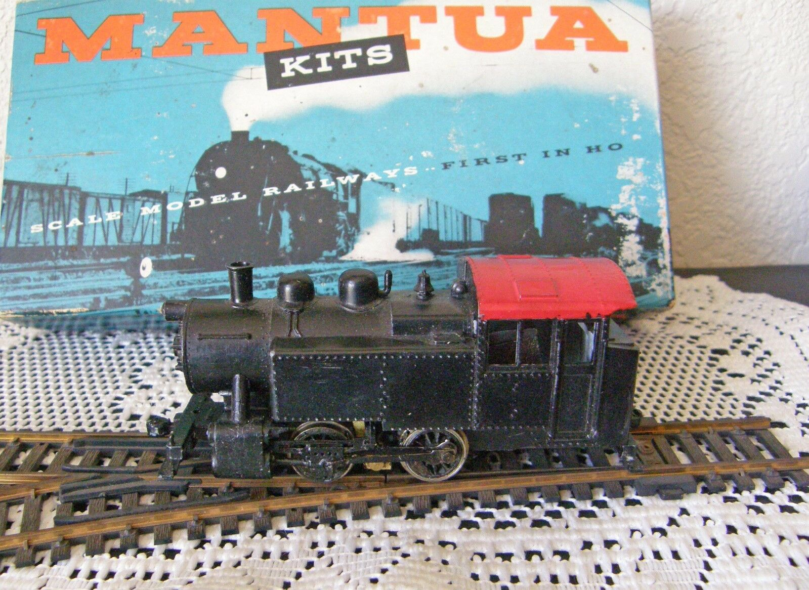 1946 MANTUA KIT 213 DIESEL BOOSTER W BOX AND INSTRUCTIONS & TWO RAIL BROCHURE