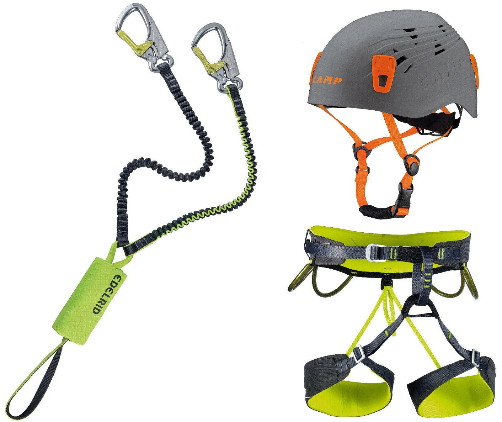 Edelrid Klettersteigset Cable Kit Lite 5.0 + + + Gurt Energy + Helm Titan 54-62cm gr 87e5c5