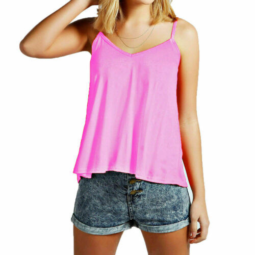 Ladies Womens Normal//Cami//Small Swing Vest Tank Top Stretch Strappy Camisole
