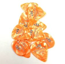 DUNLOP 483p08md Classic Celluloid Orange Pearloid Guitar Picks Medium 12-pack