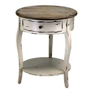 Image Is Loading French Country Abelard Side Accent Table With Shelf