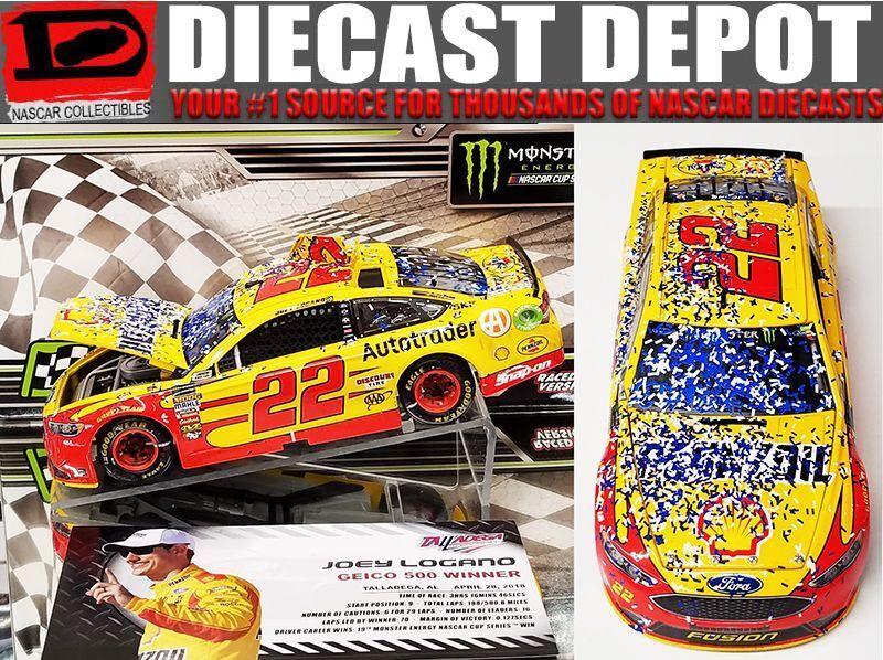 JOEY LOGANO 2018 sizeDEGA WIN RACED VERSION SHELL 1 24 ACTION NASCAR DIECAST