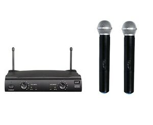 Brand-New-Professional-Dual-Wireless-Cordless-Microphone-with-shure-wireless-UT4