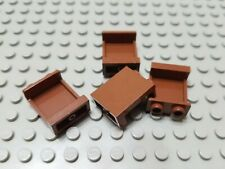 LEGO Lot of 4 Reddish Brown 1x2x2 Wall Panels