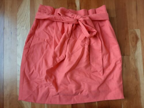 J. Crew Pleated Sash Skirt Bow Belt Coral Pink Sal