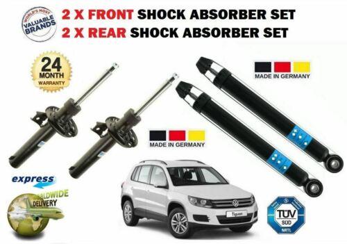 /> NUEVO 2x Delantero Para VW Volkswagen Tiguan 2007 2x Trasero Amortiguador Conjunto de Sorpresa