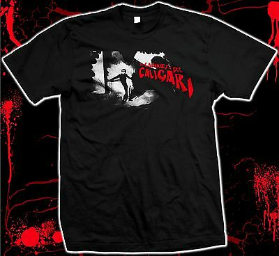 The Cabinet of Dr. Caligari - '20s silent horror - hand silk screened t-shirt