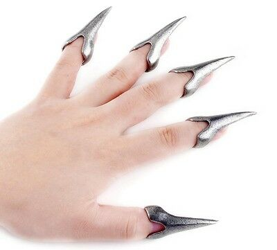 Fashion Hot Cool Vintage Punk Gothic Talon Knuckle Nail Finger Claw Spike Rings