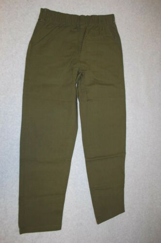Details about  /Boys DARK OLIVE GREEN WOVEN PANTS Elast Rear Waist POCKETS Belt Loops SIZE 10