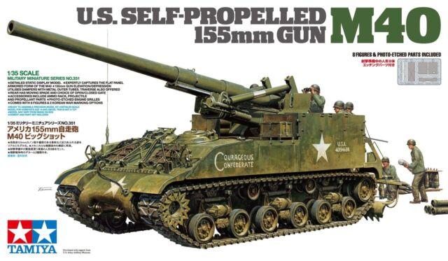 Tamiya 1/35 EE. UU. arma autopropulsada 155 mm M40 # 35351