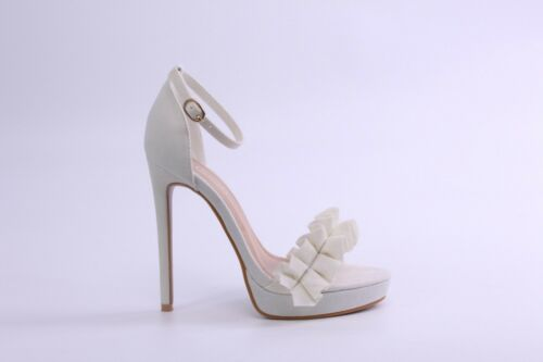 Boutique Barely There Platform Stiletto High Heel Sandals Shoes Brand New MP13