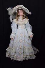 "LE 1997 THELMA RESCH LADY JUDITH 36"" PORCELAIN Victorian DOLL Dress Violet Eyes"