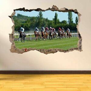 Horse Racing Wall Art Sticker Mural Wallpaper Home Room Office Pub Decor AS8 Home Décor Items