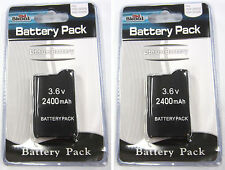 2 x PSP 2000 3000 (SLIM) Replacement Battery Pack 3.6v 2400 mAh