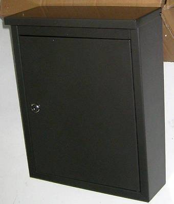 Architectural Mailboxes Chelsea Graphite Bronze Wall Mounted Steel Mailbox