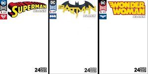 Superman-Batman-Wonder-Woman-1-24-hour-BLANK-SKETCH-COMIC-VARIANTS