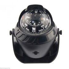 Fad Black Marine Electronic Boat Patrol Car Compass Navigation Positio Red Light