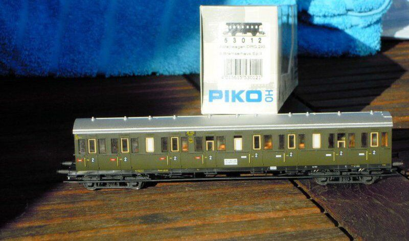 PIKO 53012 EX Saxons Carriage with Compartments 2.kl. DRG Era 2 in OVP KKK