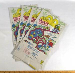 McDonalds 1994 Hot Wheels Barbie Lot of 4 Happy Meal Paper Bags Gift Party Bag
