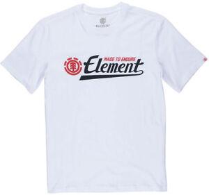 Element-Firma-de-manga-corta-en-Camiseta-en-Blanco