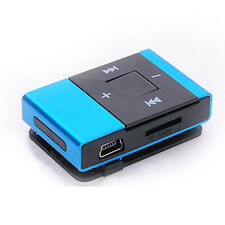 Mp3 Music Player Mini USB Clip Digital Support 8GB SD TF Card Blue portable MP3