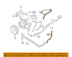 audi oem 05 11 a6 quattro power steering return hose 4f1422891m ebay rh ebay com audi a4 b5 power steering diagram Audi Body Diagram