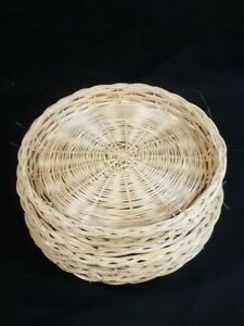 Image is loading Wicker-Bamboo-Paper-Plate-Holders-Lot-of-8 & Wicker Bamboo Paper Plate Holders Lot of 8   eBay