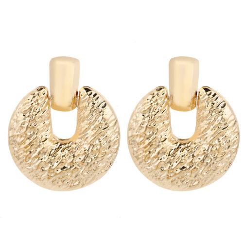 Fashion Design Or rond géométrique Dangle Boucles d/'oreilles pendantes Femmes Parti Bijoux