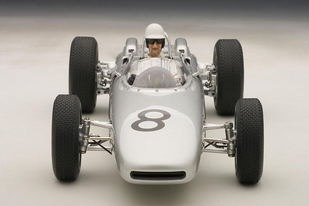 1:18 Autoart Porsche 804 F1 1962 Jo Bonnier Nurburgring  8 con Carattere Driver
