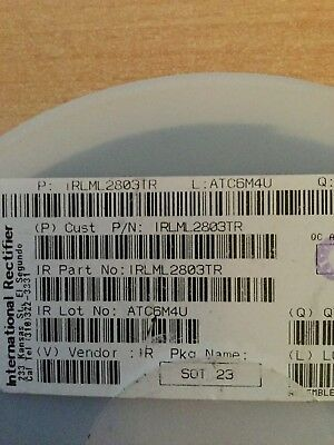 50 PCS IRLML2402 SOT-23 IRLML2402TR HEXFET Power MOSFET
