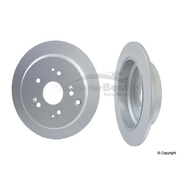 Set of 2 Rear Solid Disc Brake Rotors for Honda Odyssey 02-04 Meyle 40421004