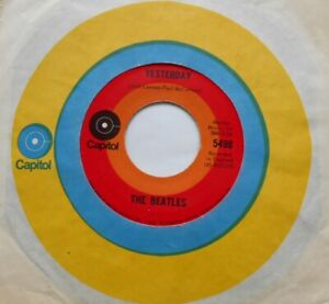 THE-BEATLES-Yesterday-Act-Naturally-Ex-to-NM-CANADA-1969-RED-TARGET-CAPITOL-45
