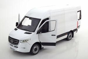 533fa281af Norev 2018 Mercedes Benz Sprinter Delivery Van White in 1 18 Scale ...