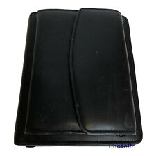Franklin Covey Black Nappa Leather Binder Exterior Organizer 85x7 In 6 Ring