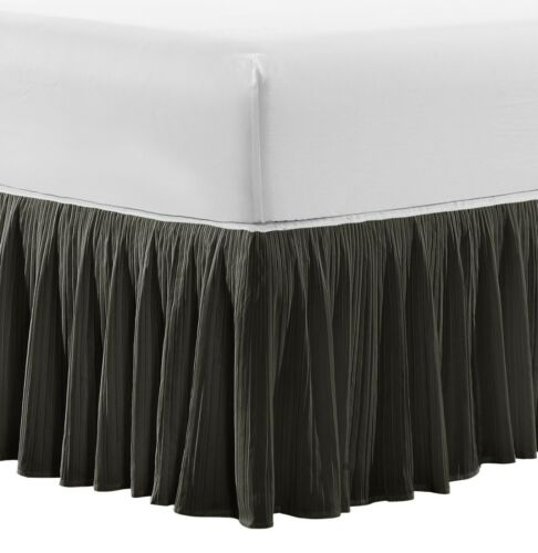 """Home Soft Things Serenta Pleated 18/"""" Drop Bed Skirt Drapery"""