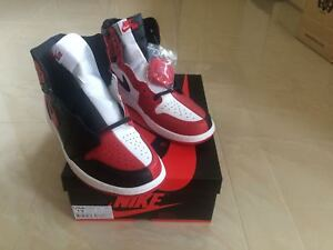various colors fe132 c140f Details about 2018 NIKE AIR JORDAN 1 RETRO HI OG HOMAGE TO HOME SIZES UK  11.5 & 12