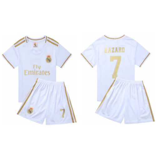 Kinder Fußball Kit Jungen Mädchen Jersey TrikotSet Kurzarm shirt short für 3-14Y