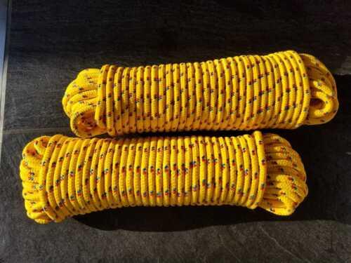 gelb Festmacher 12 mm Ankerleine,Fender,Tauwerk,Bootsleine 30 Meter PP Seil