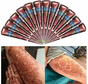 24-Henna-Natural-Tattoo-Temporary-Cones-Kaveri-Body-Art-Ink-Paste-Mehndi-Kit
