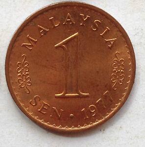 Parliament Series 1 sen coin 1977