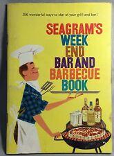 Original Vintage SEAGRAM's Gin & Whiskey Week End BAR & Barbecue Cocktail Recipe